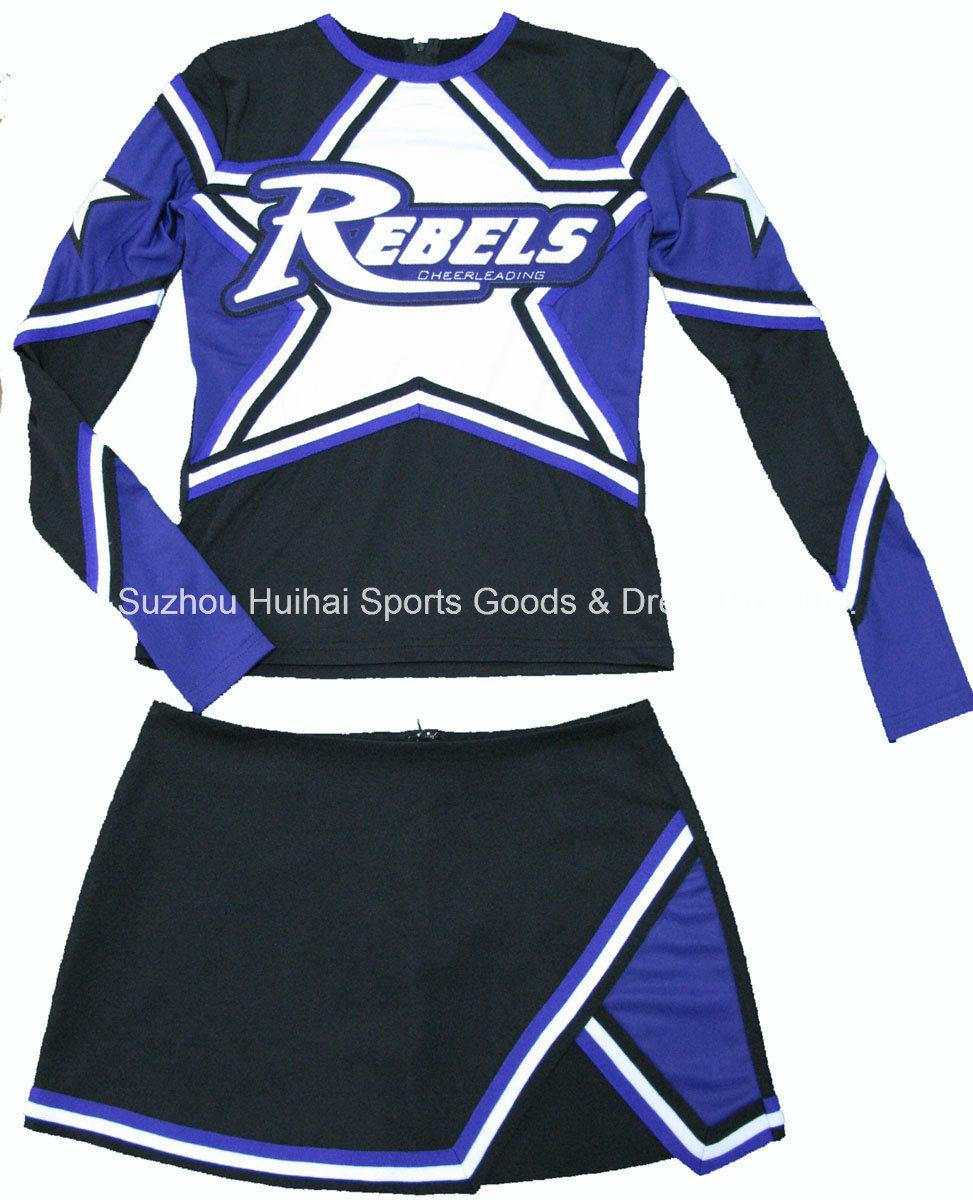 Spandex Long Sleeve Cheerleading Uniforms