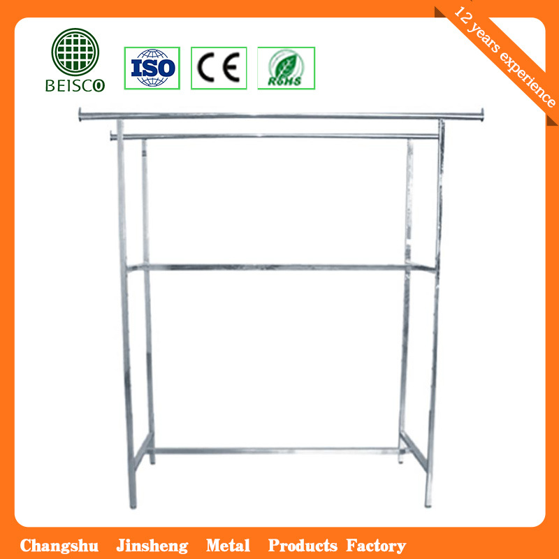 Stainless Steel Supermarket Display Clothes Stand
