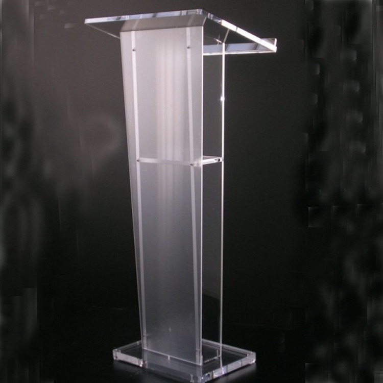 Transparent Collapsible Acrylic Conversation Pulpit Lectern