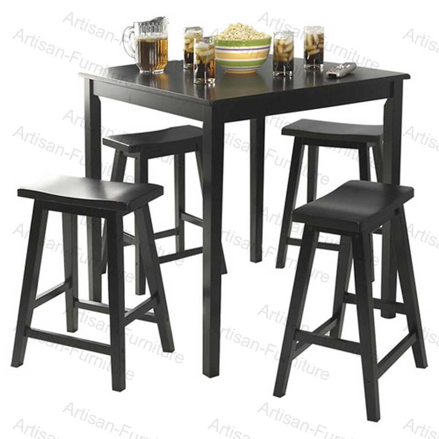 china wooden kitchen bar dining table with stool