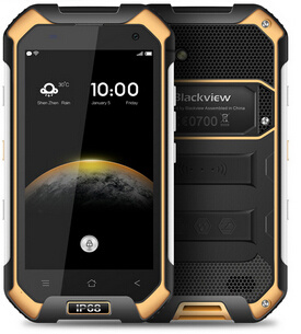 "Blackview BV6000 Smartphone 4G Lte Waterproof IP68 4.7"" HD Mt6755 Octa Core Android 6.0 Mobile Cell Phone 3GB RAM 32GB ROM 13MP Orange Color"