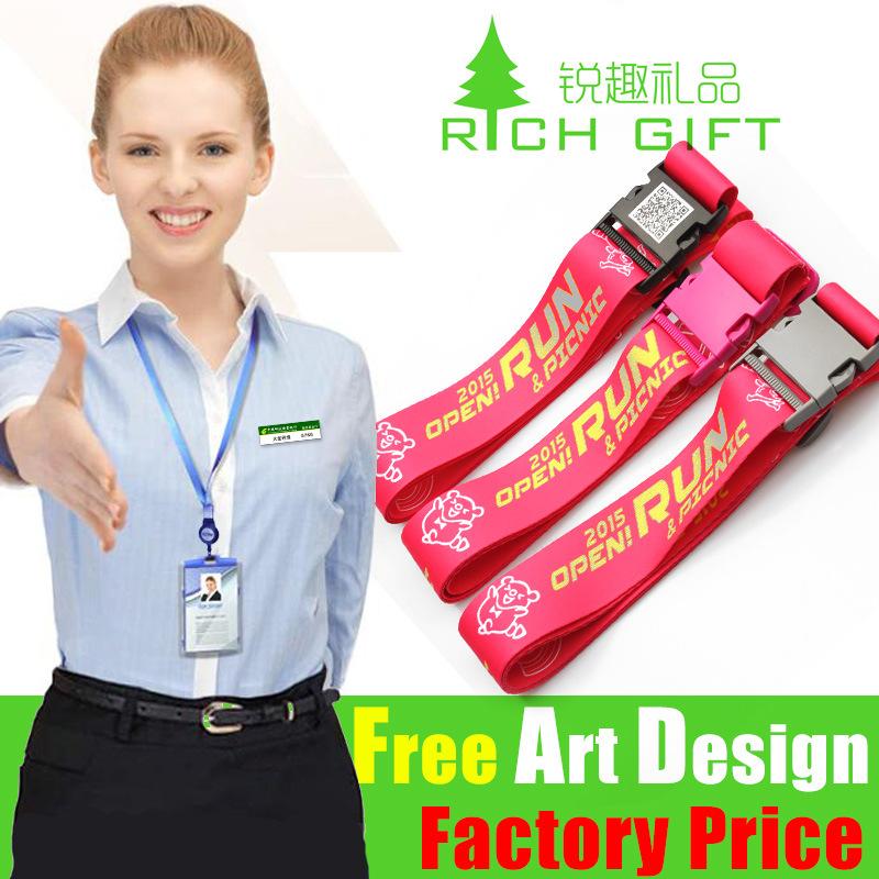 Custom Logo Design Belt Printed Polyster Luggage Strap