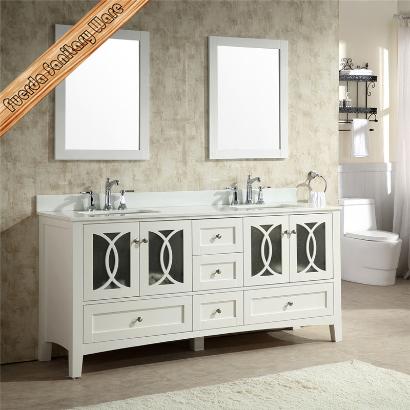 Fed-1978 Modern Solid Wood Bathroom Vanity, Bathroom Cabinet