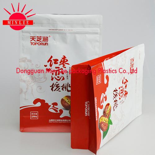 2016 Customized Flat Bottom Bag/Flat Bottom Bag/Flat Bottom Side Gusset Ziplock Food Package Bag/Flat Bottom Pouch