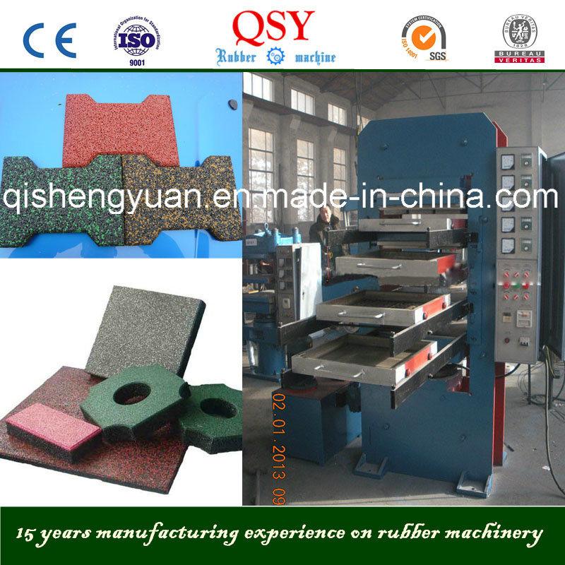 50/80tons Rubber Floor Tile Machine / Vulcanizer Press
