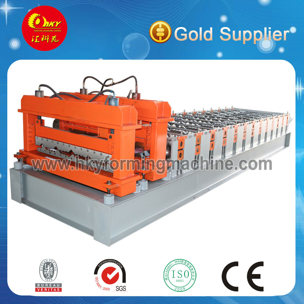 Westen Style Patten Color Steel Glazed Tile Rollformer Machine