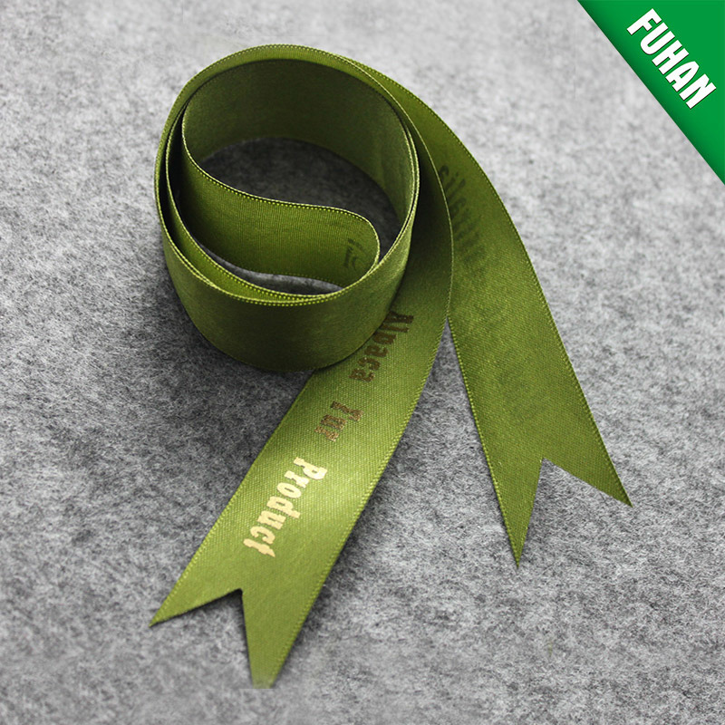Wholesale Christmas Polyester Gift Ribbon with Custom Logo and Shape