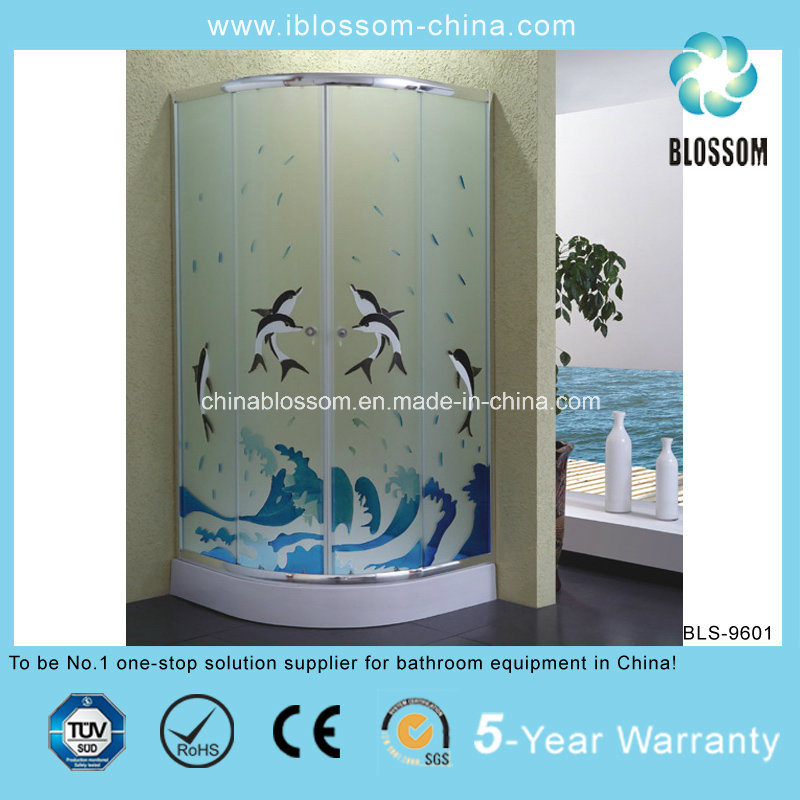 2014 New Colorful Acid Glass Shower Room (BLS-9601)