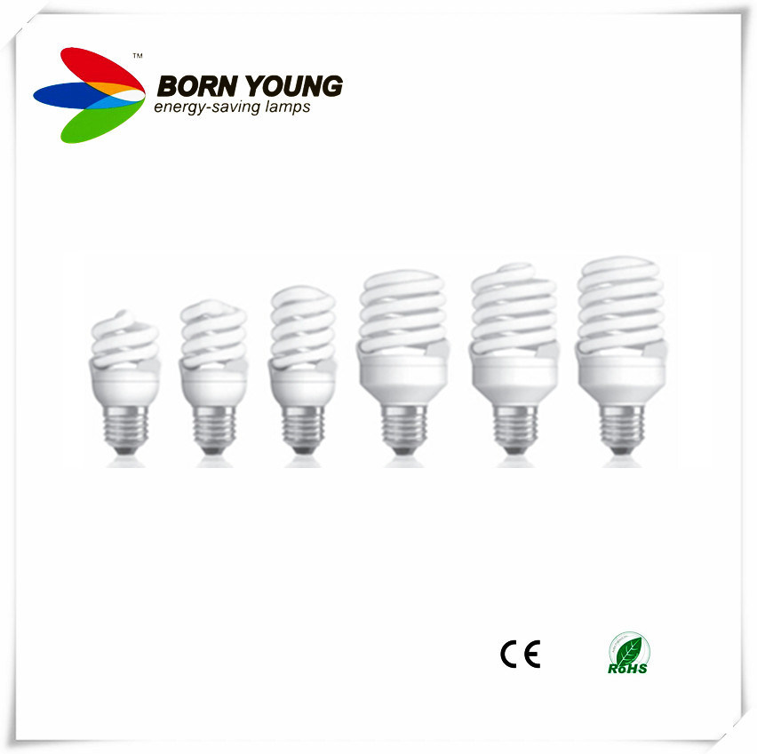 Energy Saving Lamp, Fluorescent Lamp, Full Spiral, 7mm T2 Tube