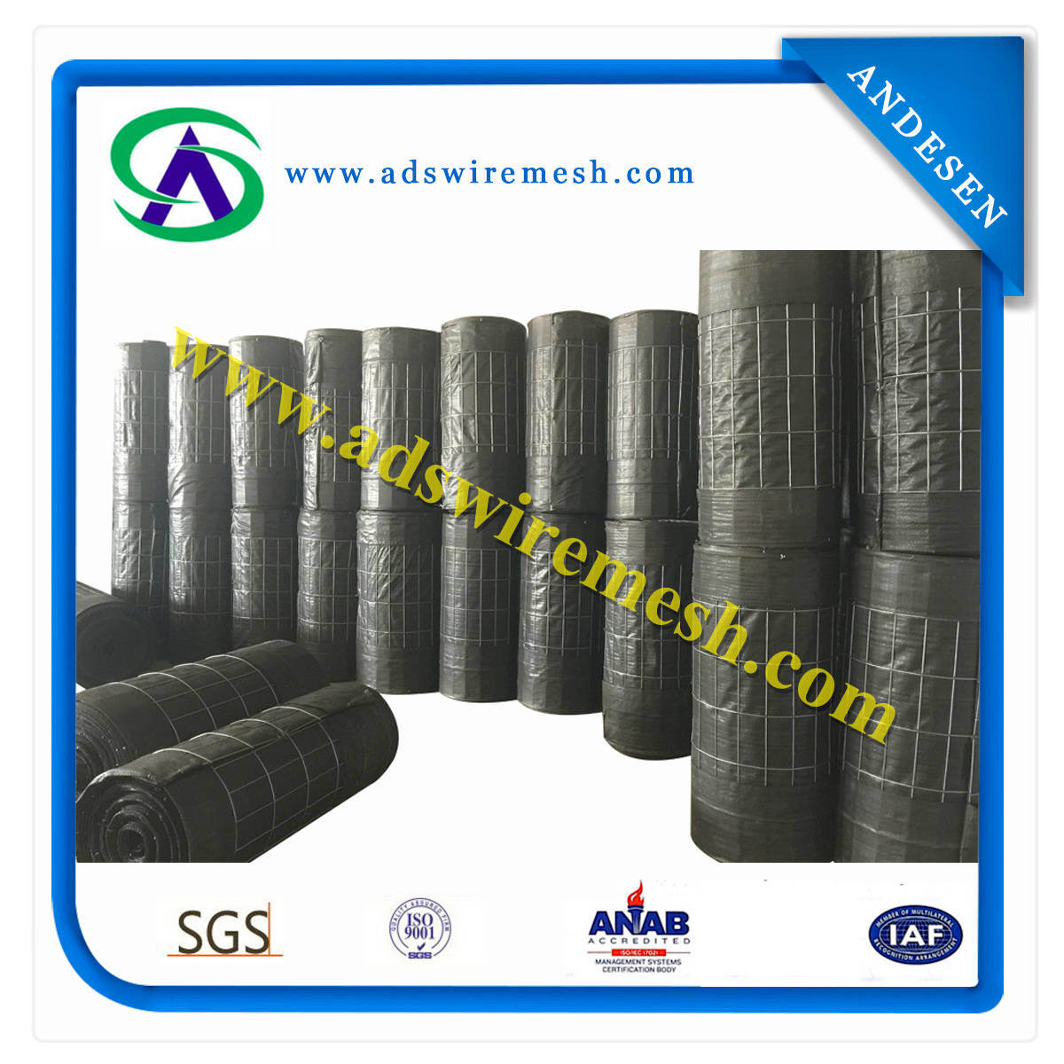 """12.5 Gauge 2""""X4"""" Wire Backed Silt Fencing"""
