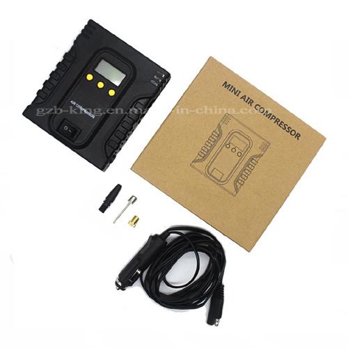 Portable Digital Tire Inflator - DC 12V Car Electric Air Compressor Pump with Light