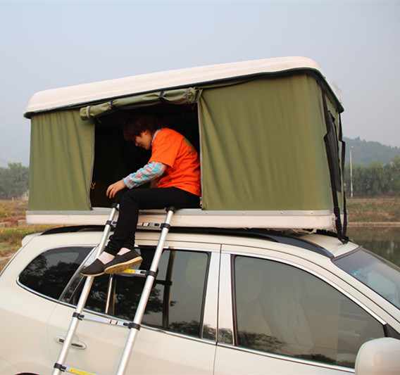 China Suv Car Camping Canvas Roof Top Tent With Annex