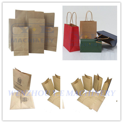 Automatic Roll Feeding Square Bottom Paper Bag Making Machines