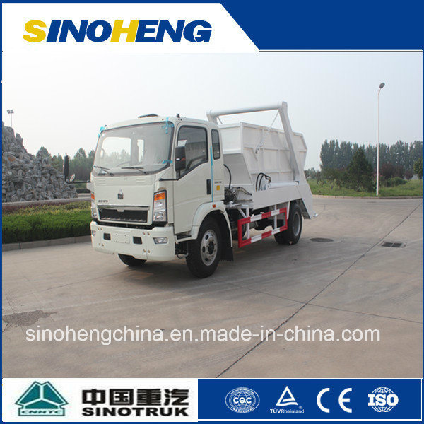 China Sinotruk Small Garbage Truck Skip Loader