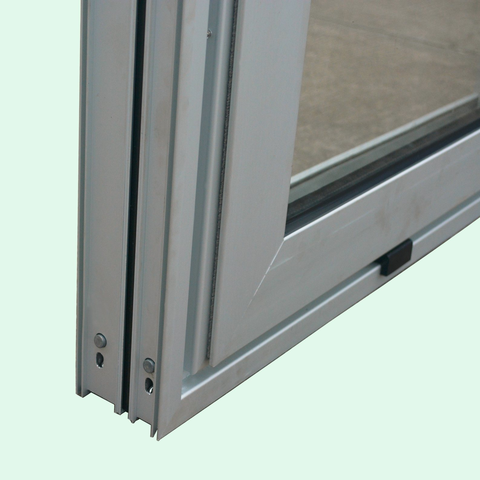 Powder Coated Thermal Break Aluminum Alloy Window with Latch Lock, Aluminum Sliding Window K01010