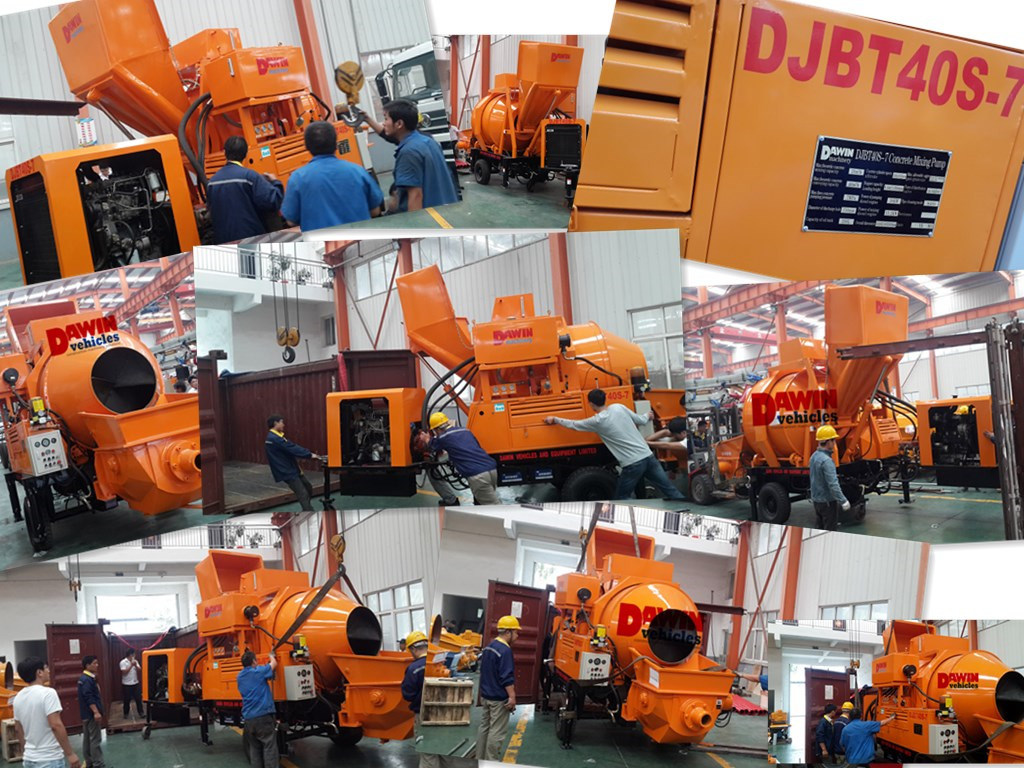Djbt30 Lovol Diesel Engine Concrete Mixing Pump on Sale