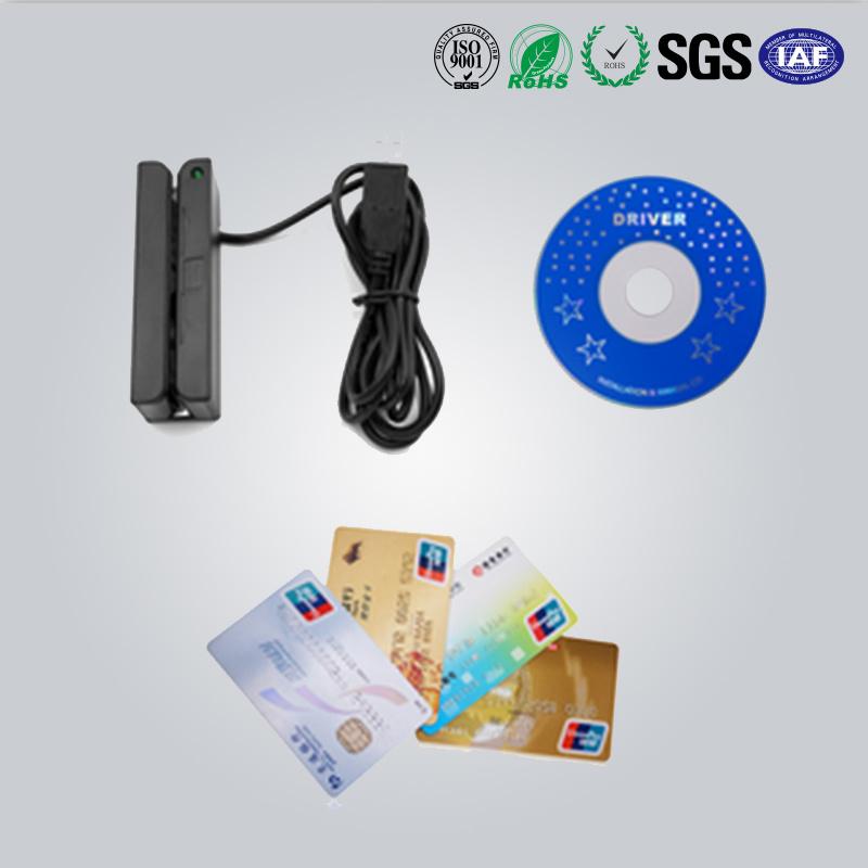 3 Track Programmable Magnetic Stripe Card Reader