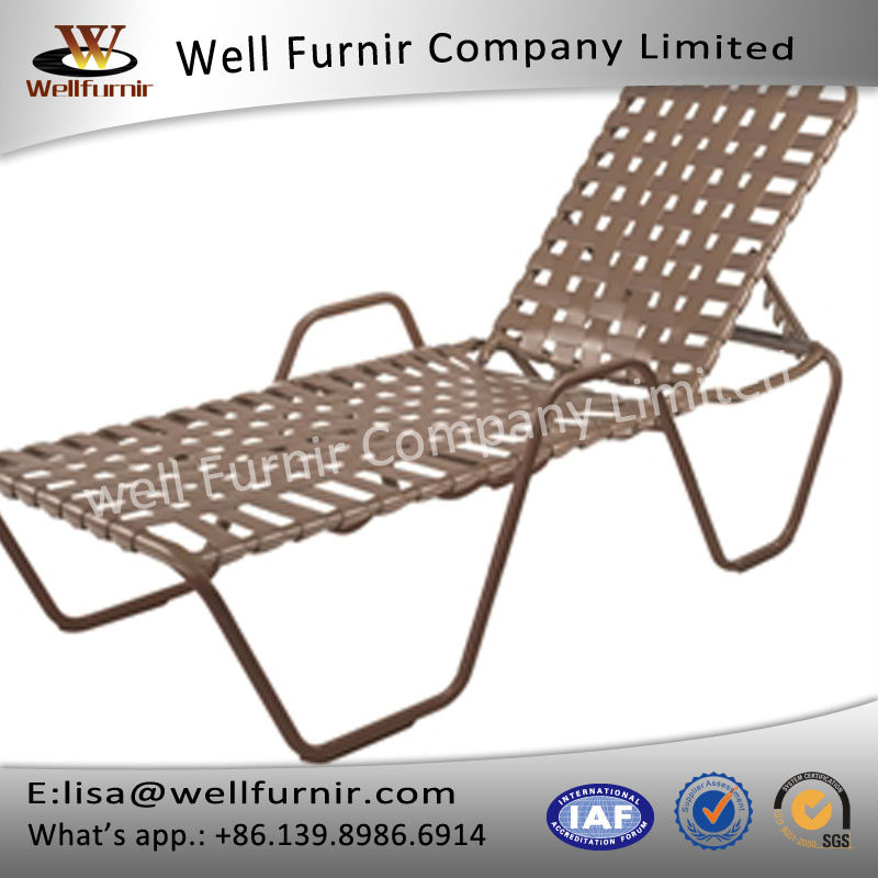 Well Furnir WF-8001 Vinyl Straps Sun Chaise Lounge