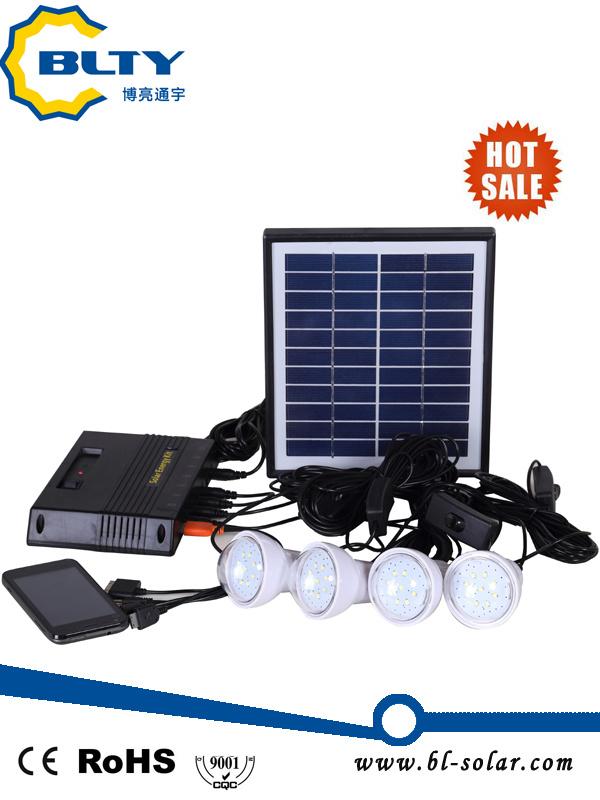 4W Portable Solar Power Solar Lighting System for Home