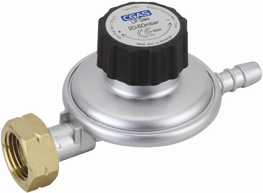 LPG Adjustable Low Pressure Gas Regulator (C33G02P20~60)