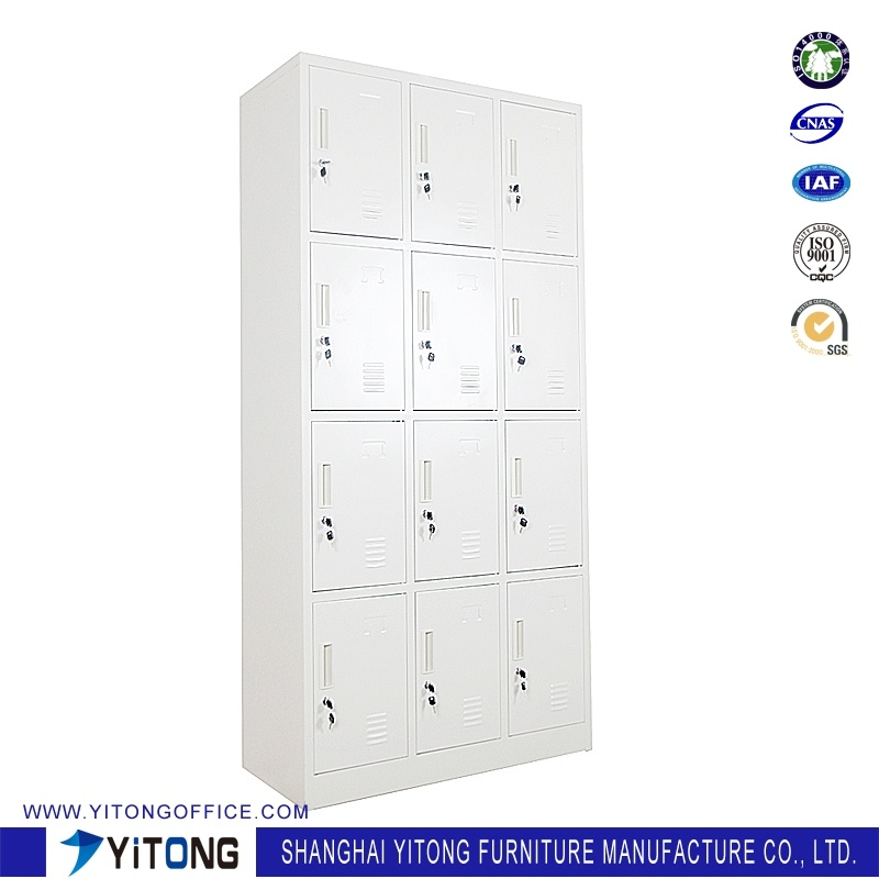 Yitong 12-Door Metal Storage Cabinet / Office Use Steel Locker