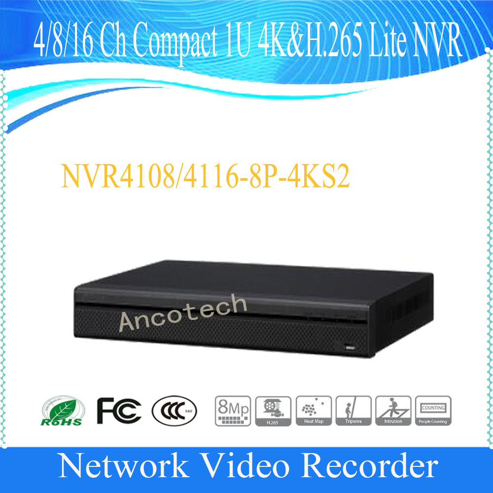 Dahua 4 Channel Compact 1u 4k&H. 265 Lite HD NVR (NVR4104HS-4KS2)