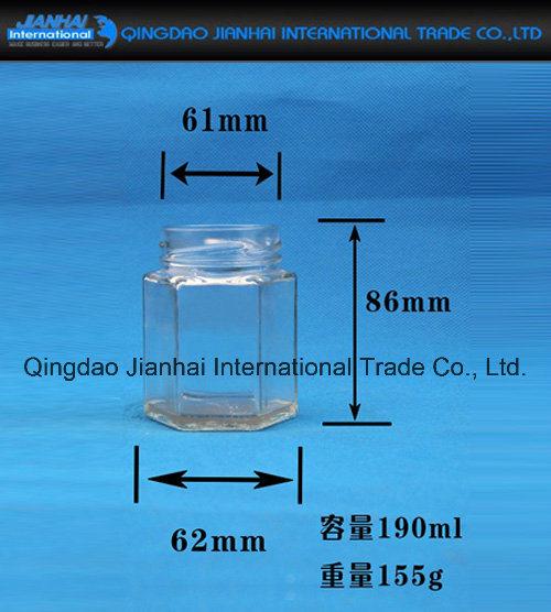 Hexgonal Glass Jar Glass Bottle for Pickles