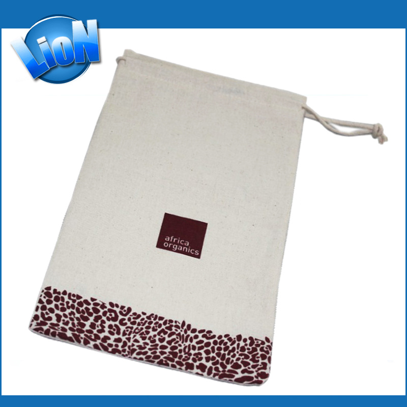 Customized Organic Cotton Bag Pouch (e-123)