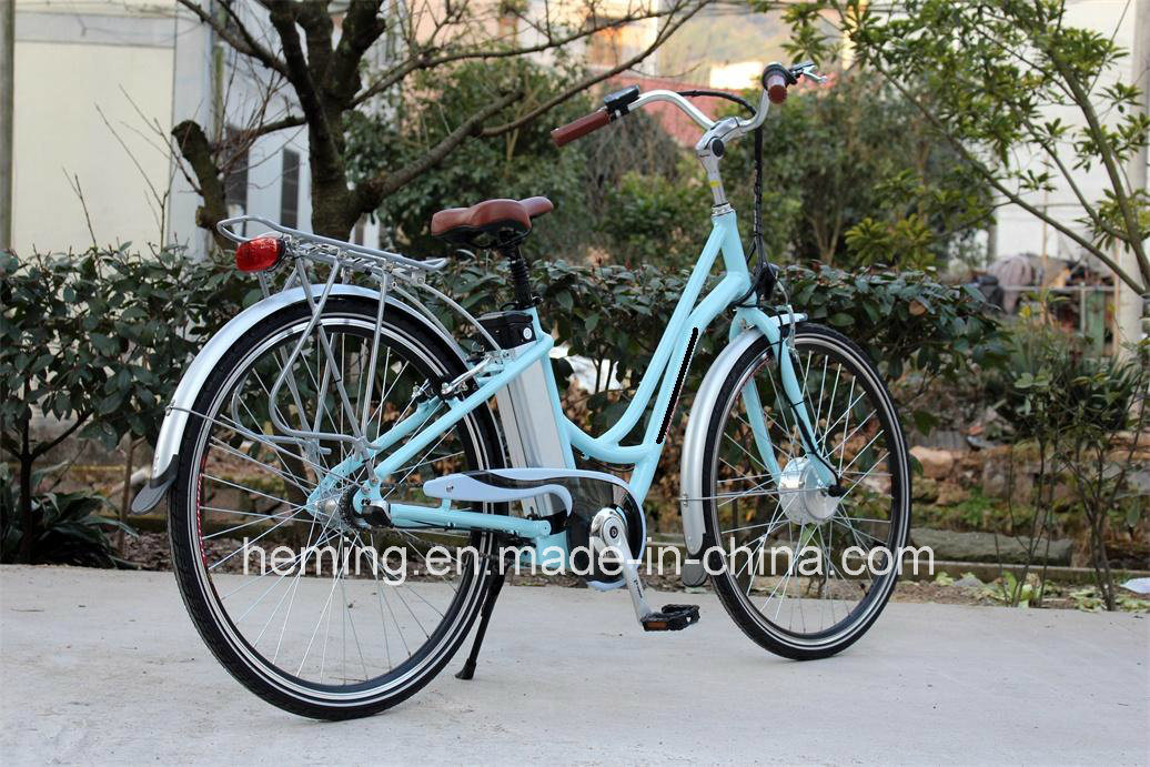 250W Electric City Bike with Intelligent LCD Meter