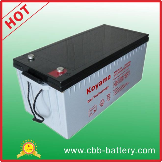 Wind & Solar Power System Gel Battery 12V 200ah
