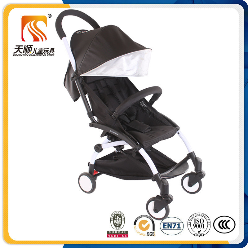 2016 New Model Aluminium Alloy Frame Foldable Lightweight Baby Pram with PU Wheeles