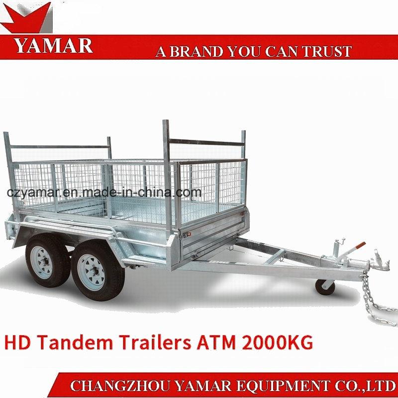 ATM 2000kg Box Trailer with Cage/Dump Trailer/Tipper Trailer