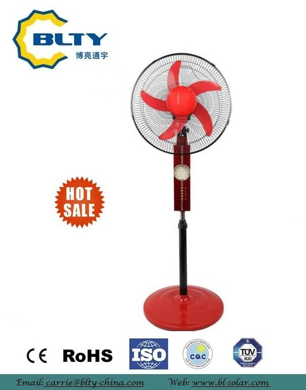 "2017 16"" DC Rechargeable Fan Stainless Steel Pedestal Fan"