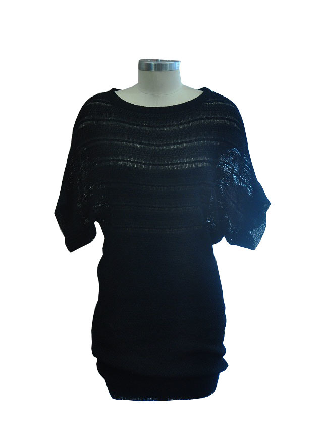Fashion Short Sleeve Package Hip Knitted Dress