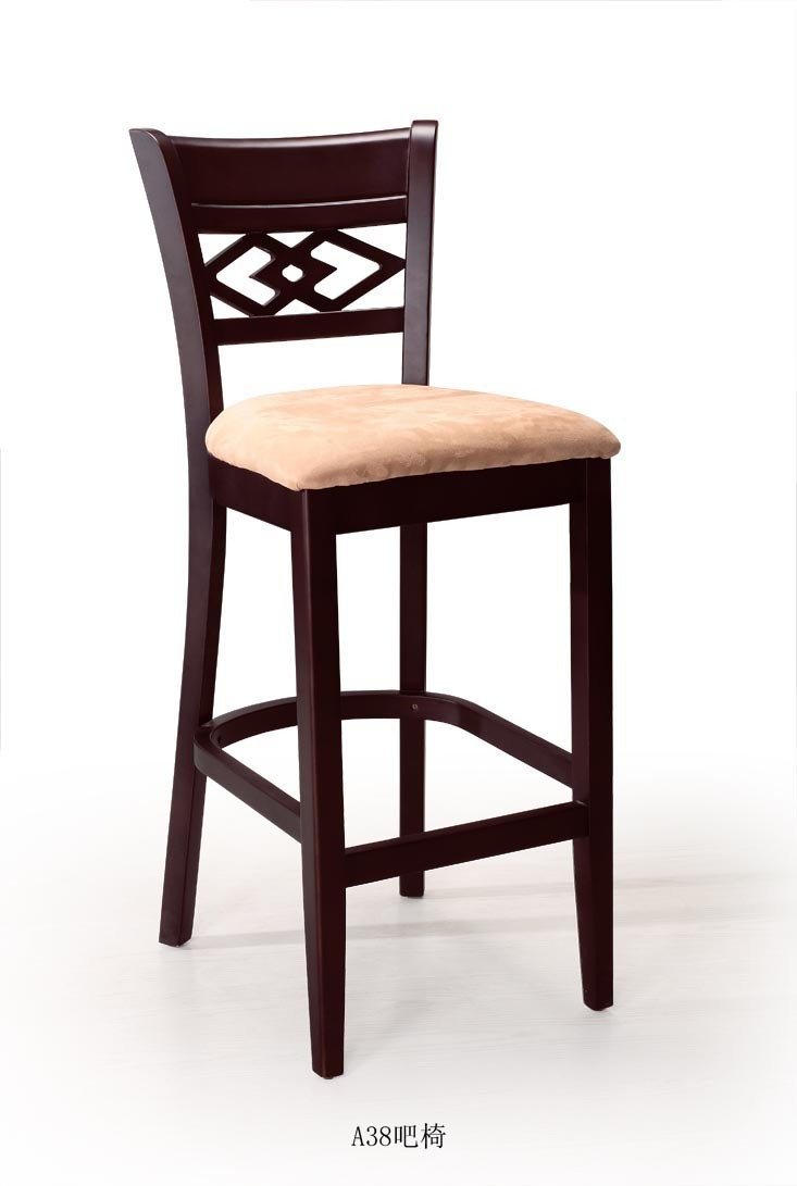 China wooden bar chair a wood