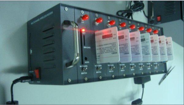 8 Ports GSM/GPRS SMS Modem Pool