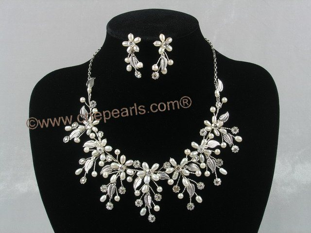 Pearl necklace set canada 310