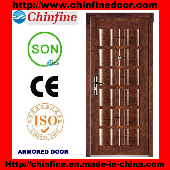 New Style Steel-Wood Armored Doors (CF-U013)