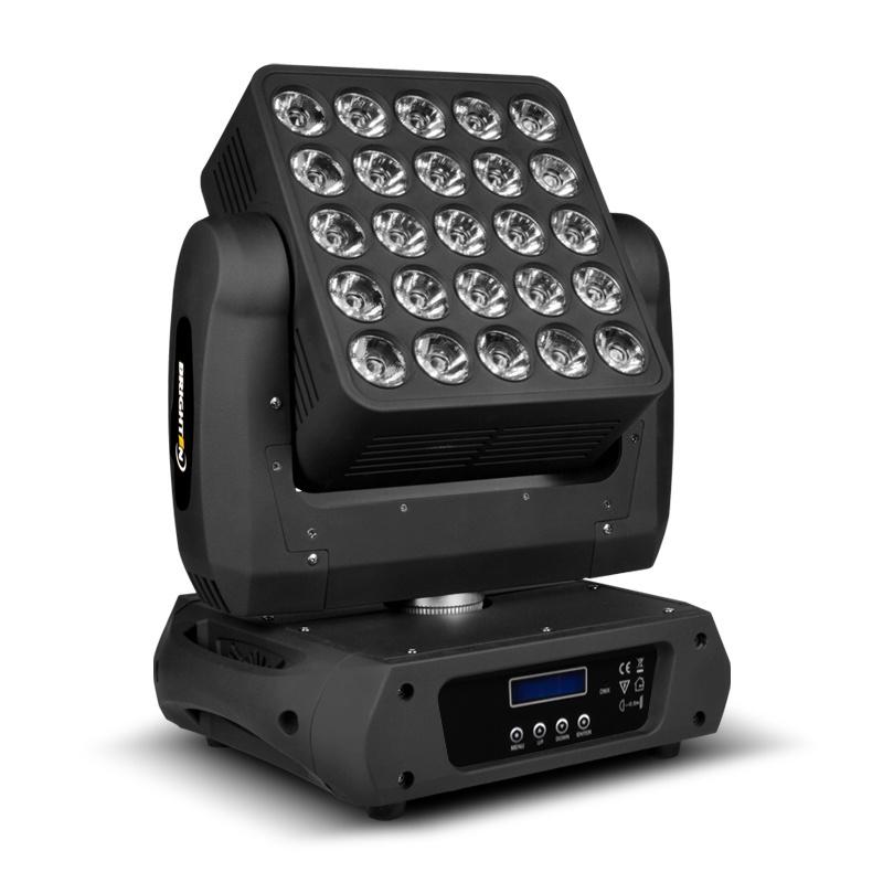 25*10W LED RGBW Matrix Madpanel Moving Head Stage Light