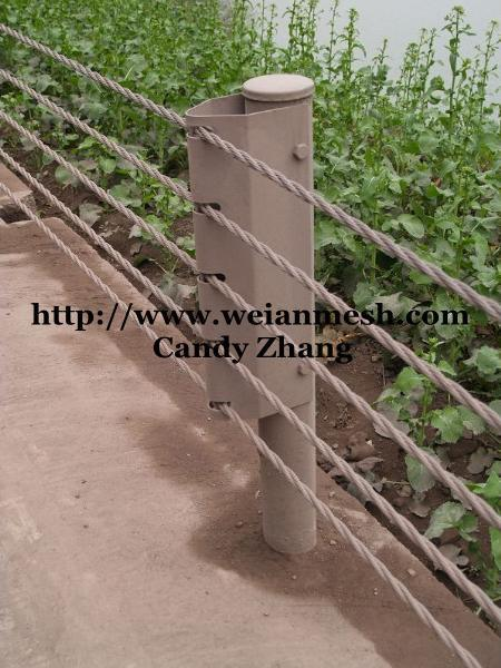 China steel wire rope fence weian candy