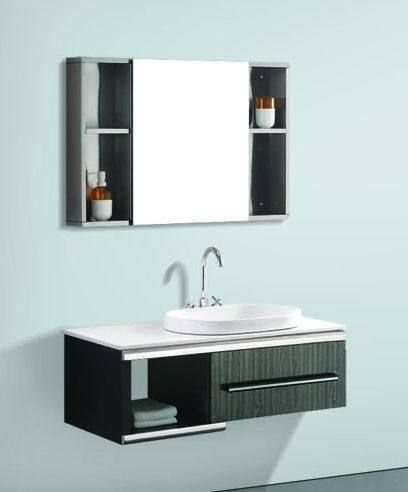Stainless steel bathroom vanity b162 china stainless steel bathroom cabinet steel cabinet for Stainless steel bathroom vanity cabinet