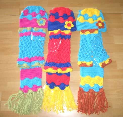 HandCrochet Scarf Hat Gloves  China garmentscarf Crochet Scarves And Hats