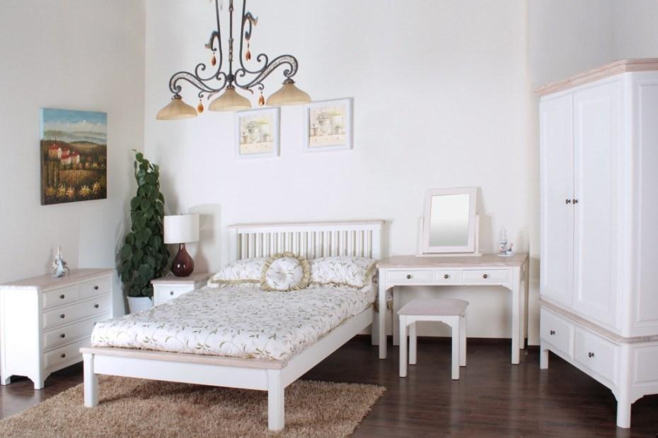 China antique white room set washed range oak top