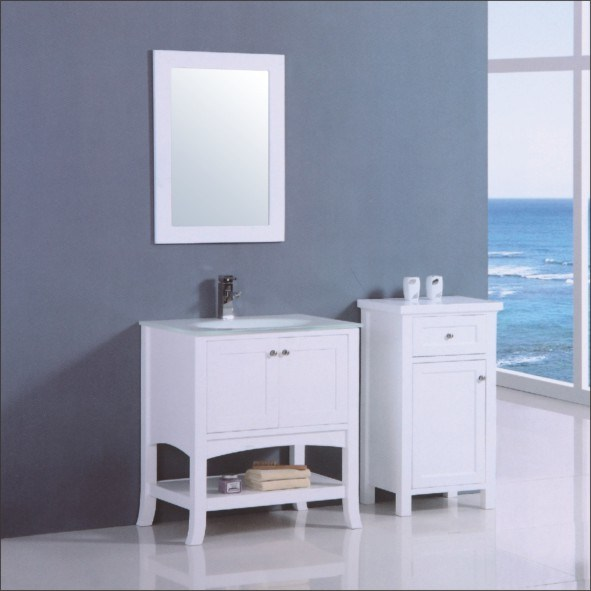 white wood bathroom cabinet vanity mj 8023 china bathroom vanity