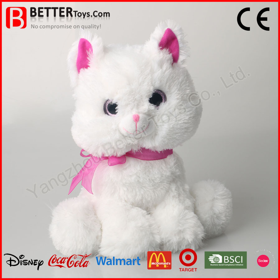 ASTM Soft Cat Toys Plush Stuffed Animal Cat Toy for Kids