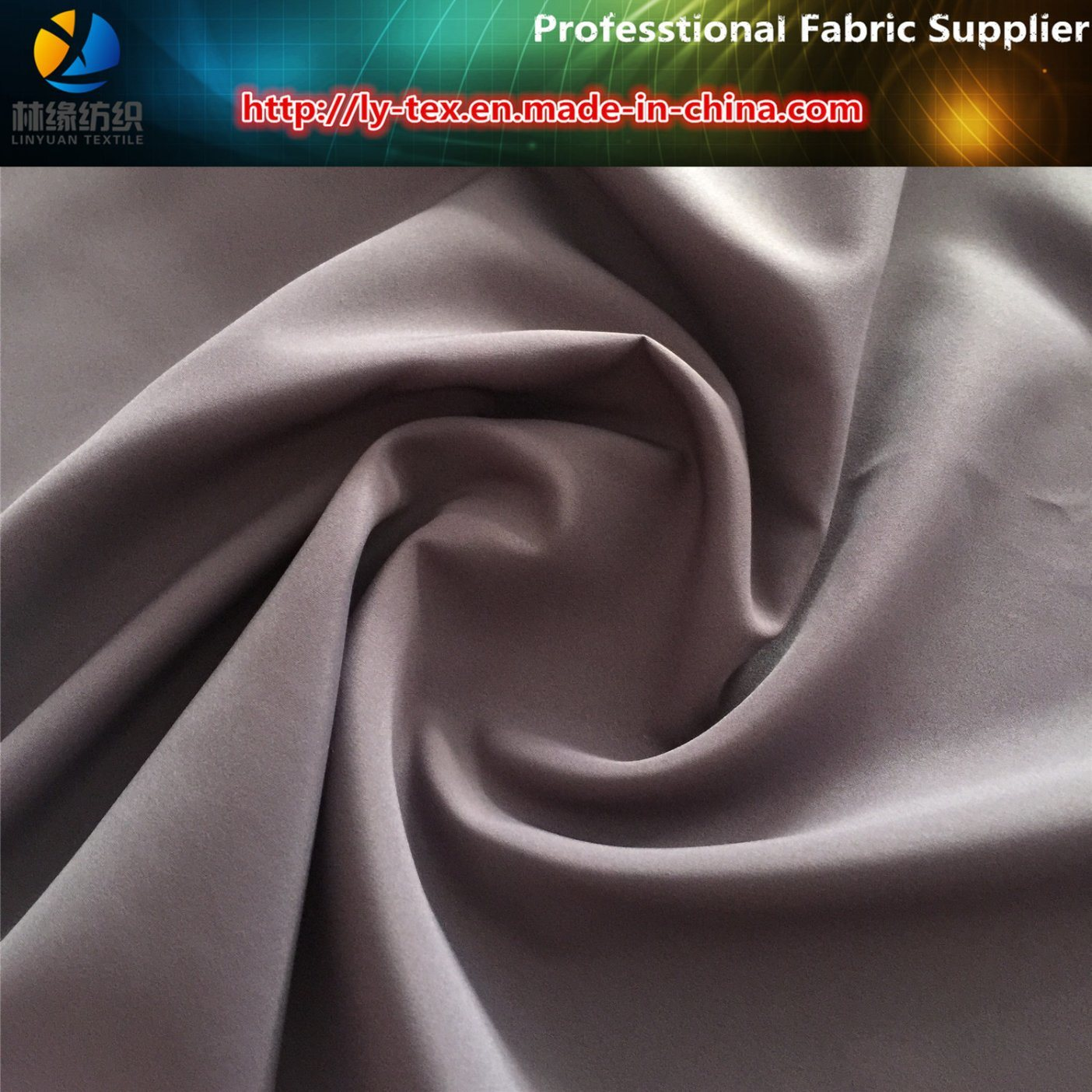 Polyester Fabric, 260t Pongee with Milk Coating for Garment