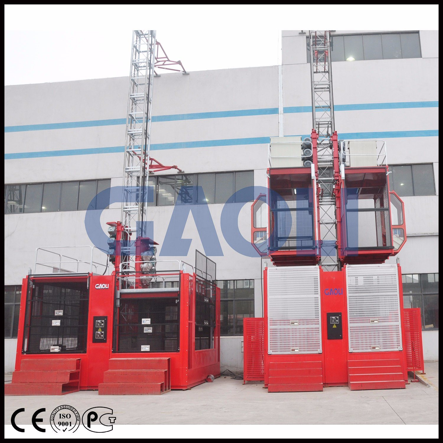 Gaoli Ce Approved Construction Elevator Sc100/100
