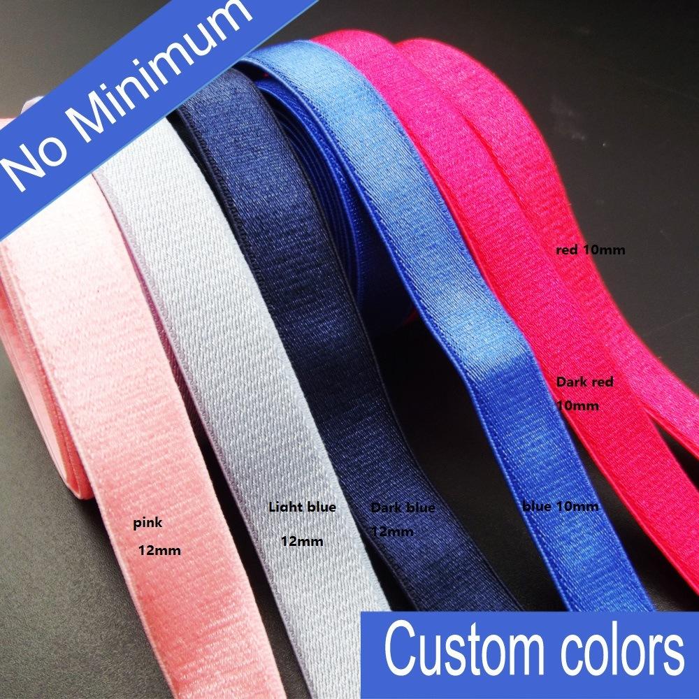 Custom Colors 12mm Elastic Shoulder Strap for Garment