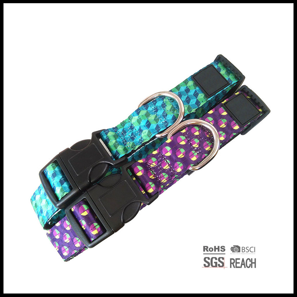Multi Stitch Fashion Satin Ribbon Nylon Pet Cat Dog Collar