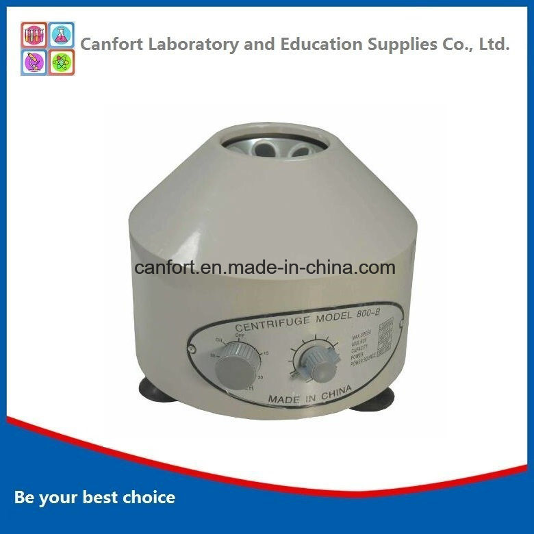 Lab Equipment Low Speed Mini 800b Centrifuge with Timer